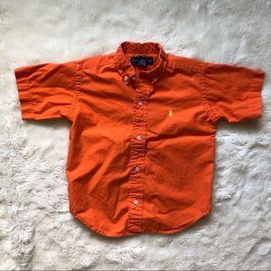 Ralph Lauren Short Sleeved Button Down Shirt 2T